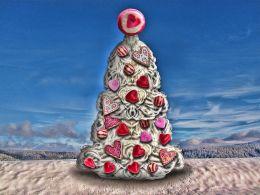 Santa Beard Valentine Tree