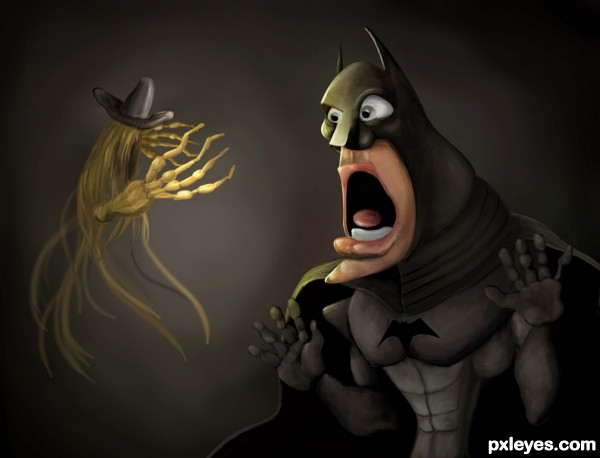 Creation of when Bat see's the Scarecow: Final Result