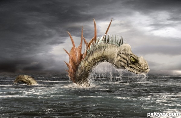 Sea serpent photoshop picture)