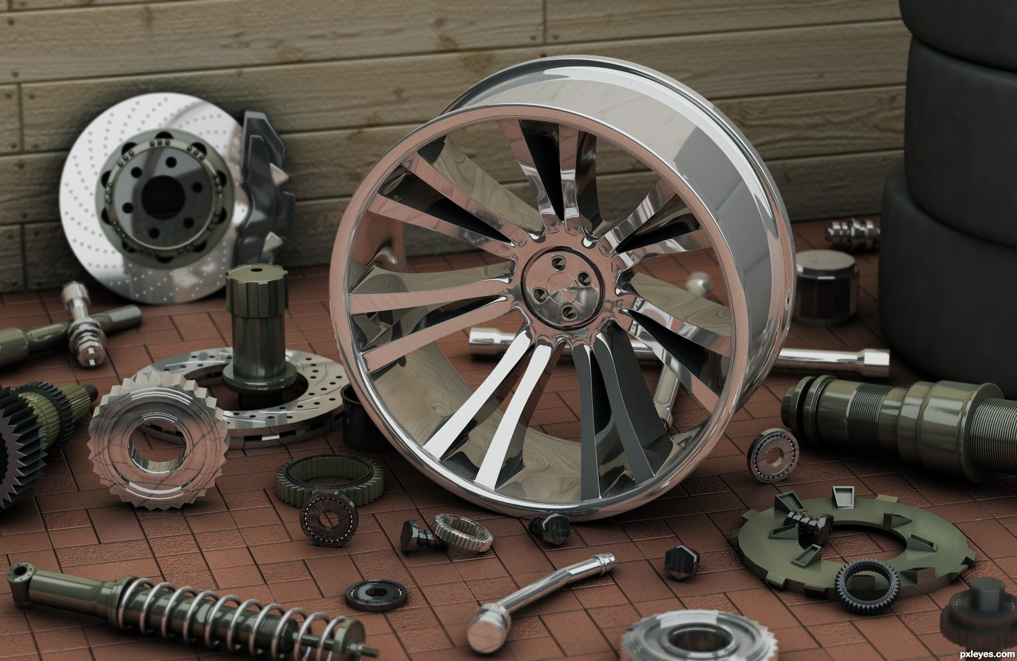 Car parts picture, by trialboj for: second chance 3D contest ...