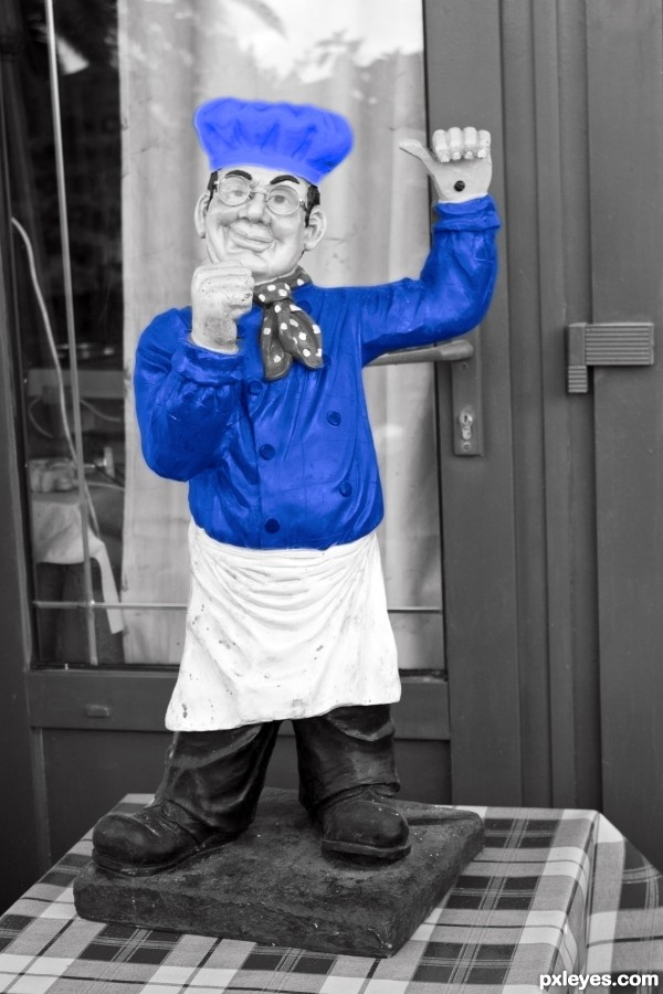 Cook in blue