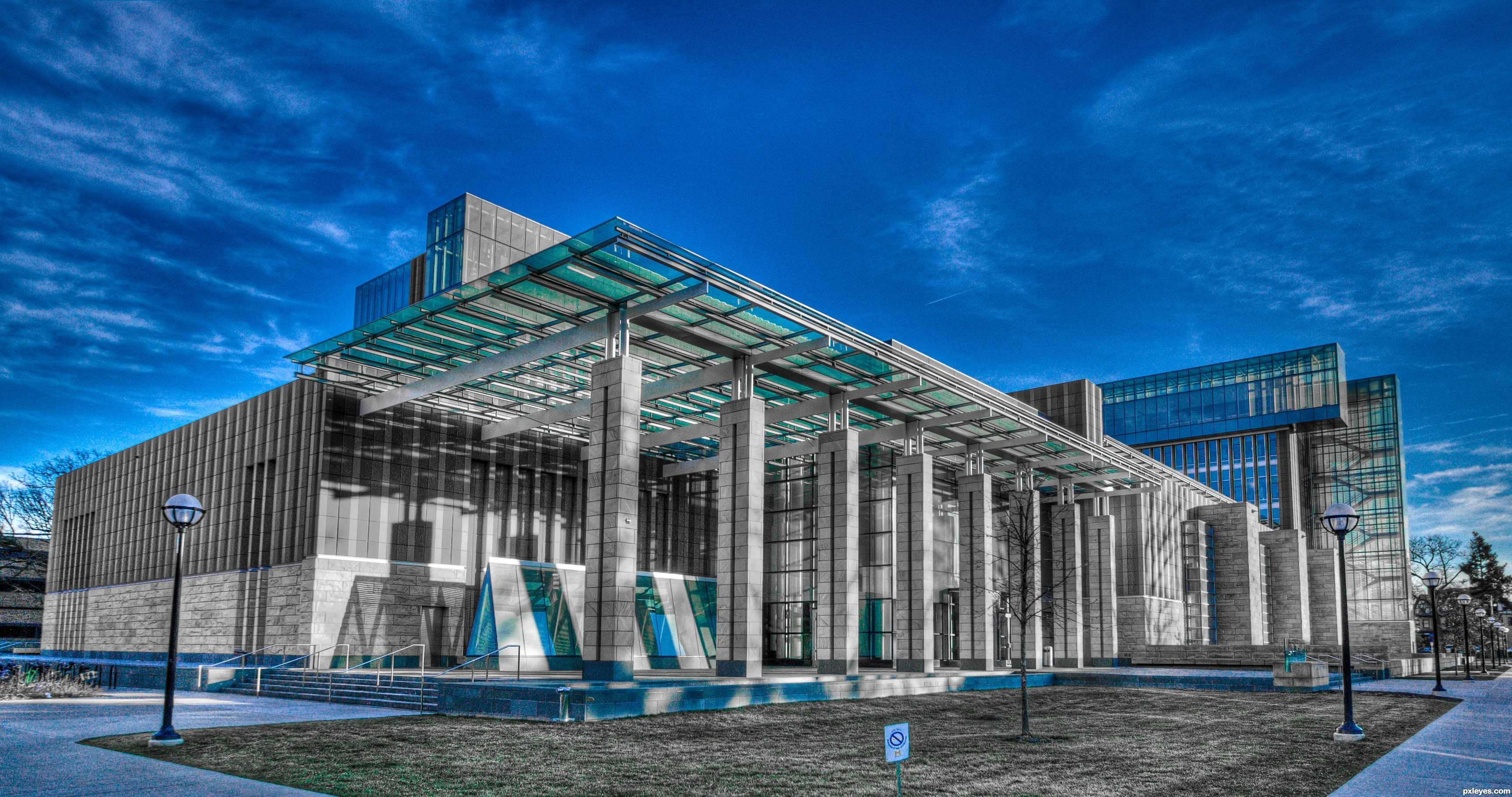 Selective Blue Photography Contest Pictures Page   Modern Architecture  Photography
