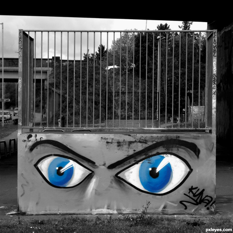 Eyes grafitti