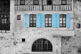 3 pairs of blue shutters