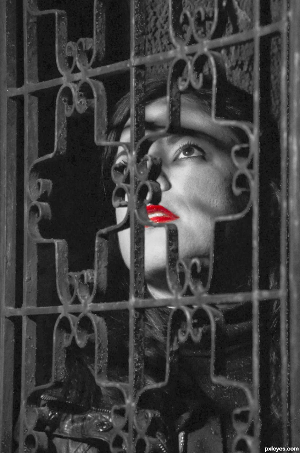 Captured Red Lips