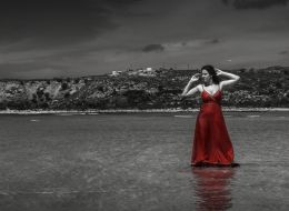 red in the sea