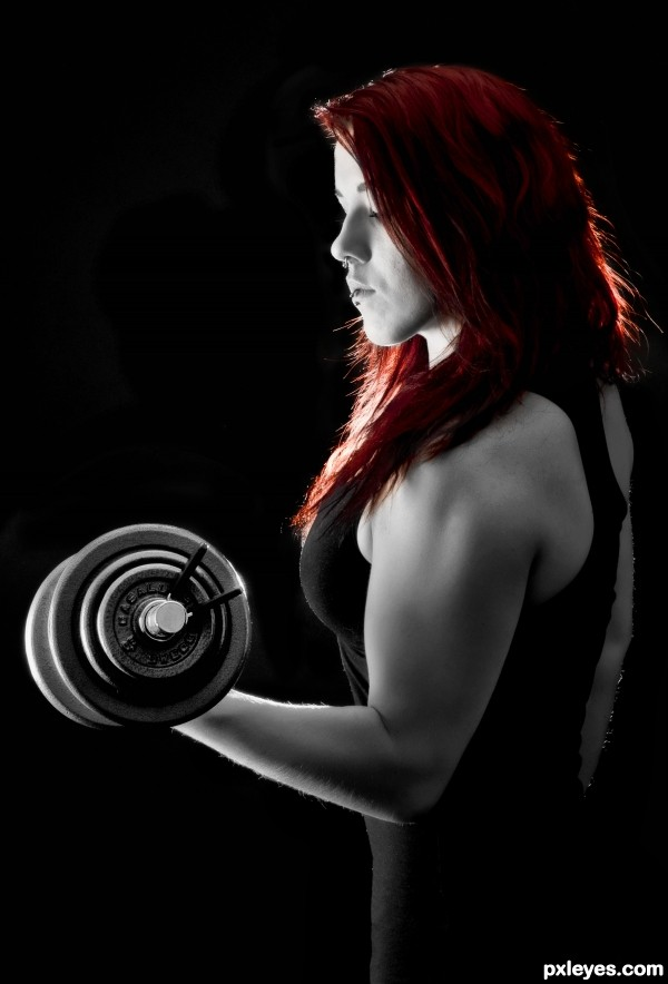 Dumbbell. photoshop picture)
