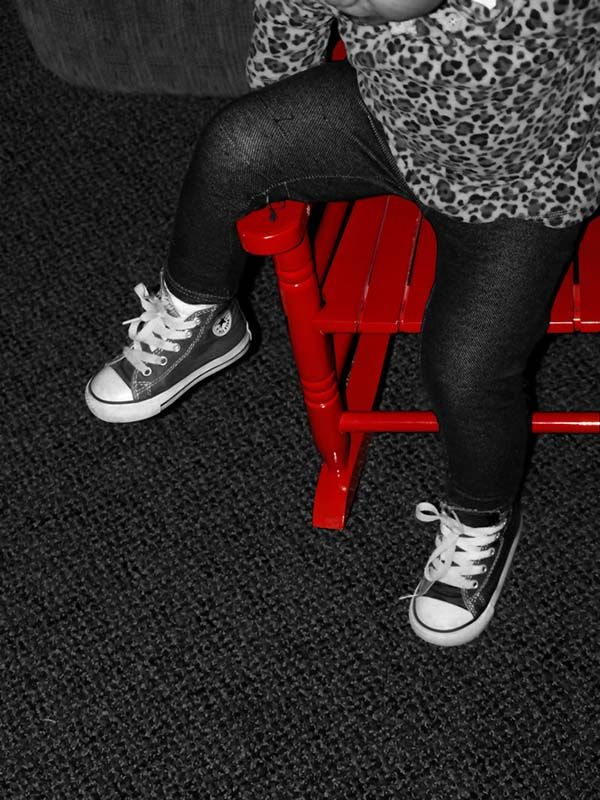 Little Red Rocking Chair ~ Selective red photography contest pictures page