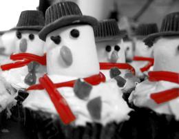 Snowmencupcakes