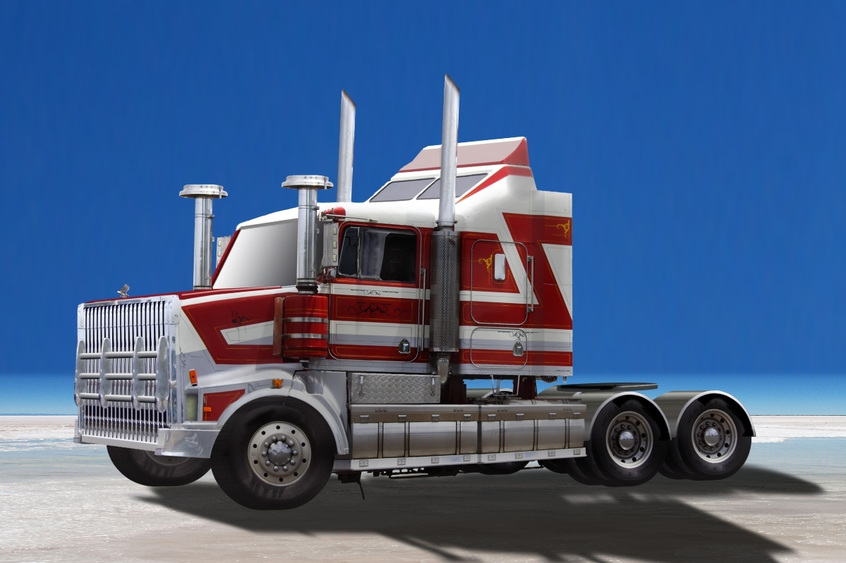 Cool blue semi truck semi truck photoshop contest