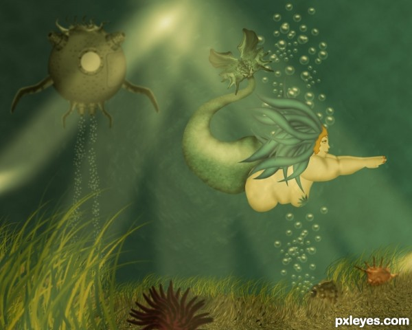 BBM or Big Beautiful Mermaid photoshop picture