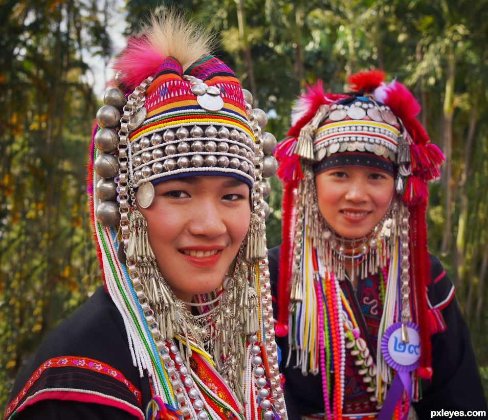 Akha Hilltribe Headdress.