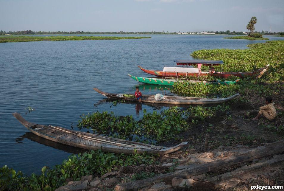 Mekong canoes