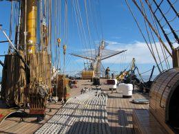 on the training ship