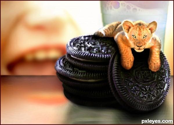 Mom! He is in my cookies again