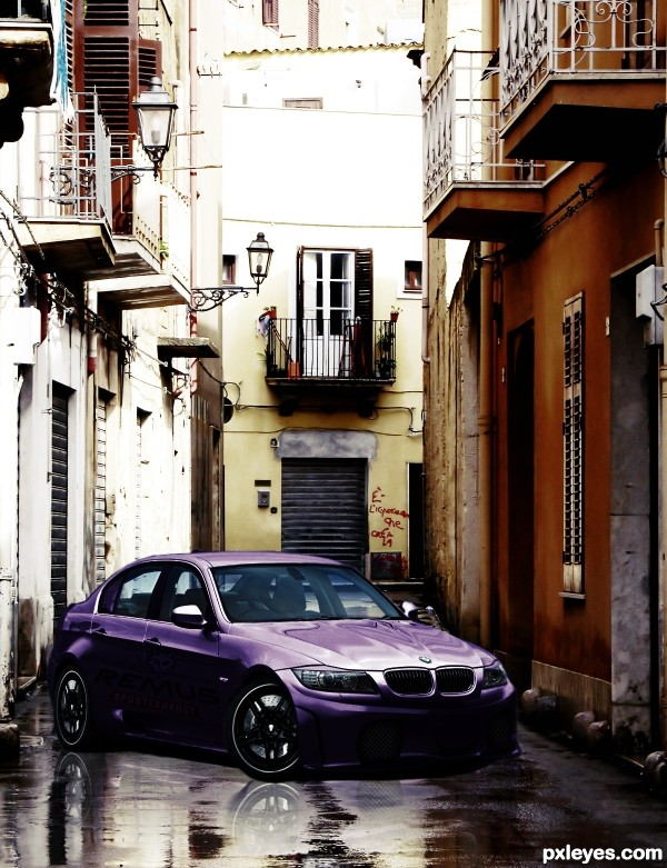 Tuned BMW in Sicily
