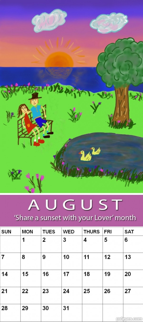 August : National Share a Sunset with your Lover Month