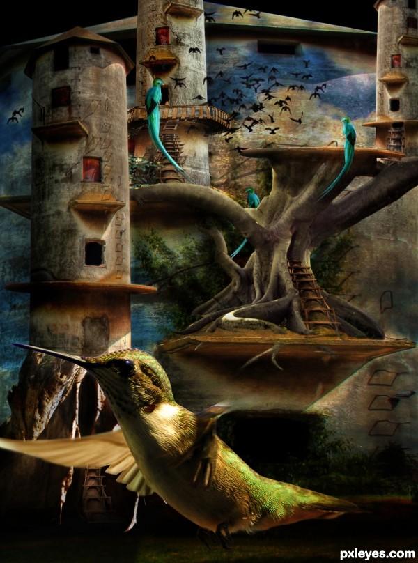 Tree Towers or Birds Paradise