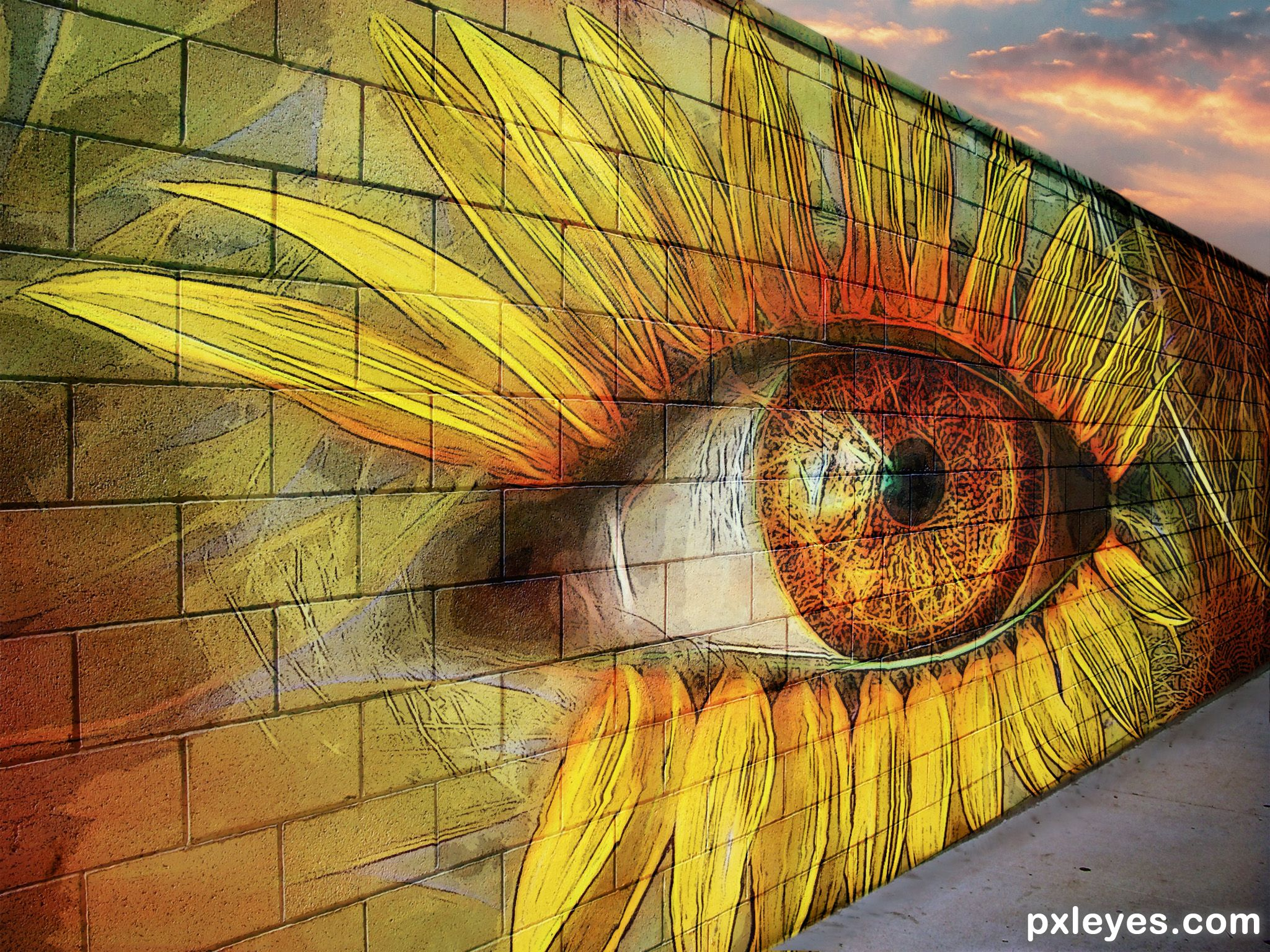 Graffiti Wall picture, by skyangel for: single eye photoshop contest ...