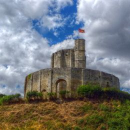 Old castle and blue sky