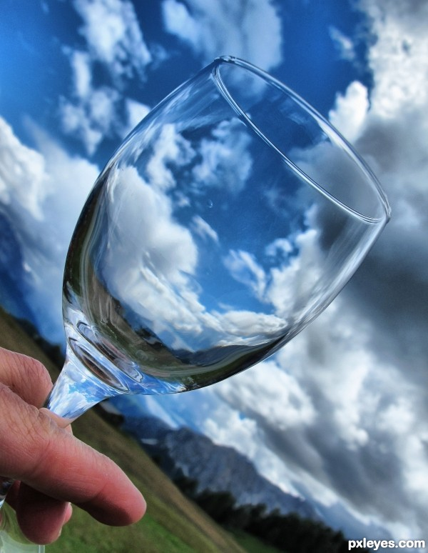 a glass of clouds