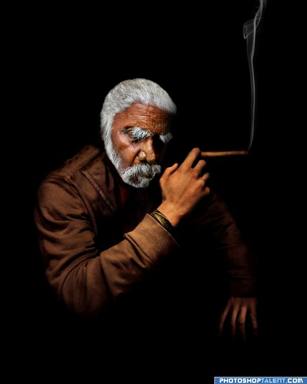 Old Man with cigar...