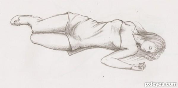 Girl Sleeping Drawing Sleepin