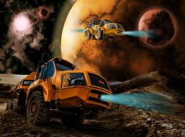 Digging On Oxydius 2, Moon Of Planet Magatea, Year 2075