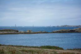 The rocky sea shore of Brittany