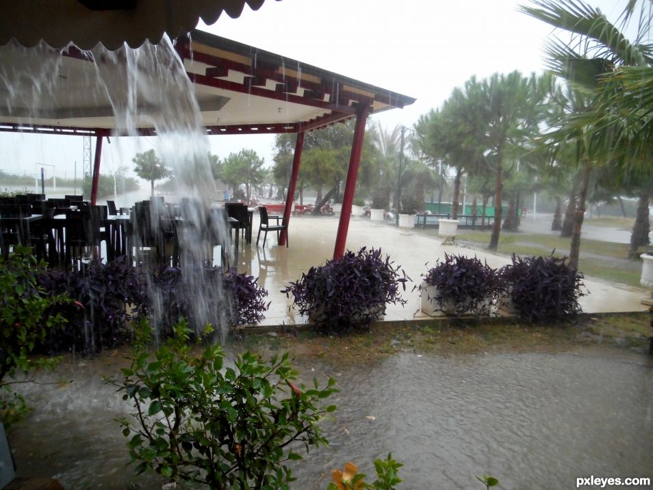 Its pouring!