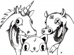 The Unicorn, Pig, and Cat