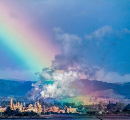 Lit by a rainbow