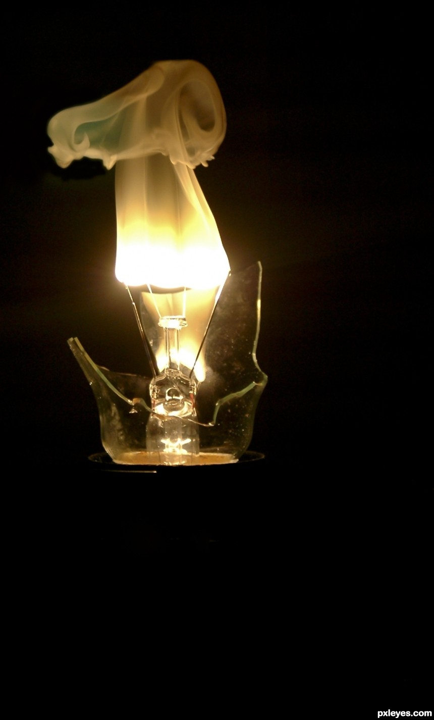 Light Bulb Smoke photoshop picture)