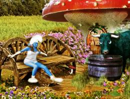 farmer smurf Picture