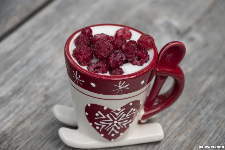 yoghurt and raspberries....