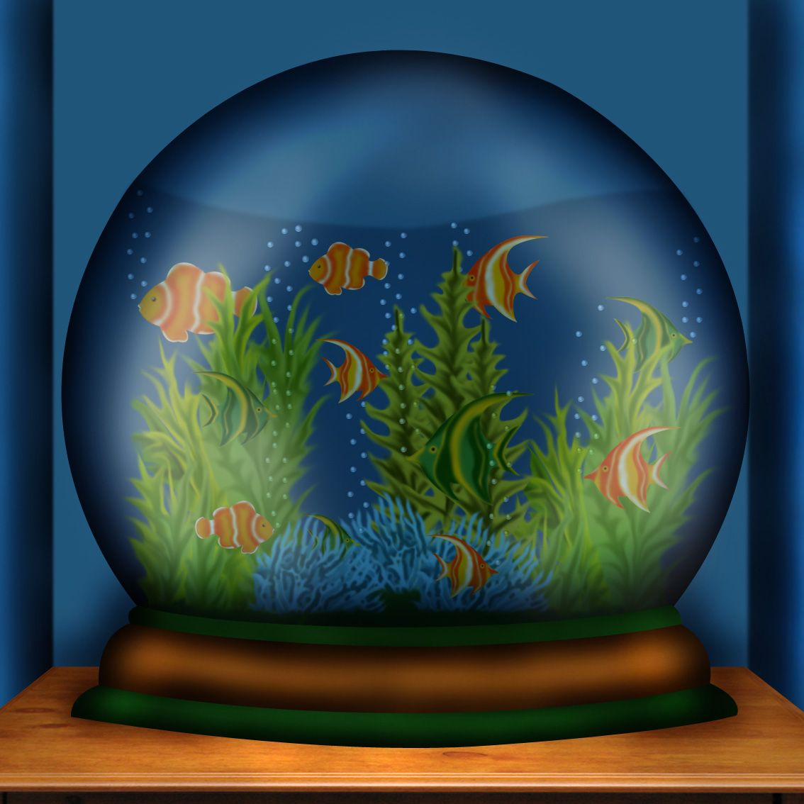 Fish tank picture, by chakra1985 for: snow globes photoshop contest ...