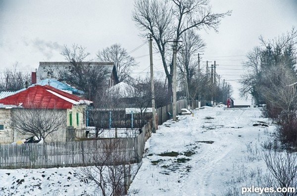"Winter in ""The village"""