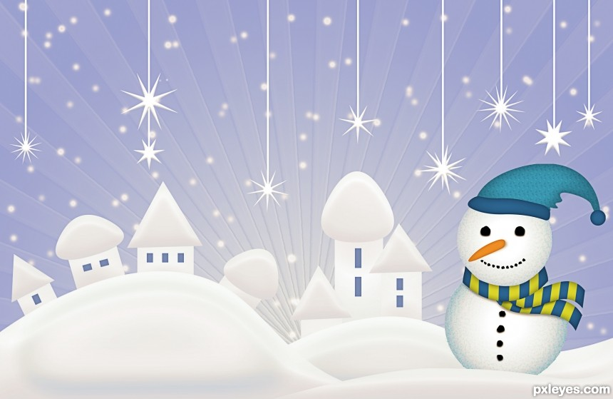 Big Snowman Day photoshop picture)
