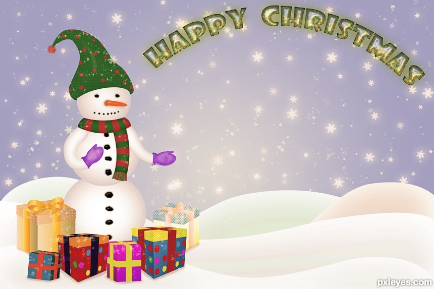 Happy Christmas! photoshop picture)