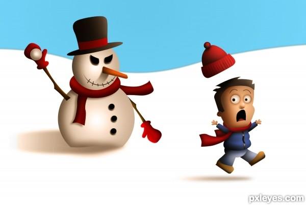 Mean Snowman
