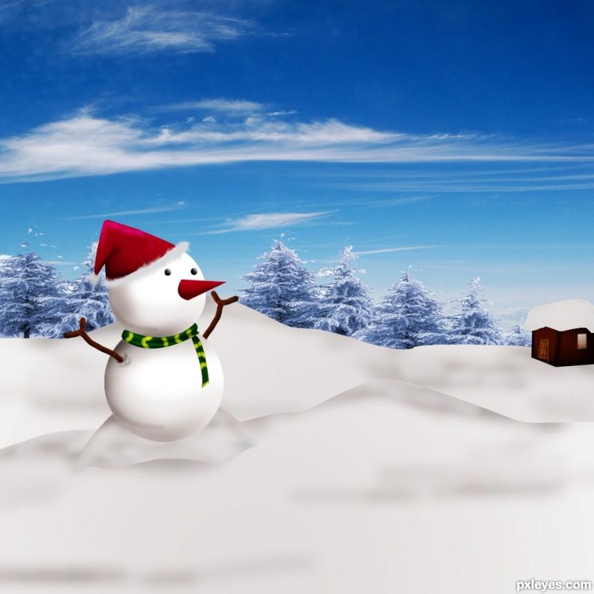 SNOW MAN photoshop picture)