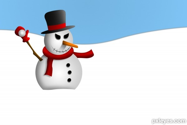 Photoshop Guide The Making Of Mean Snowman Pxleyes Com