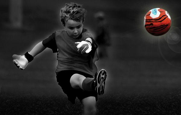 Monochrome Soccer Kid