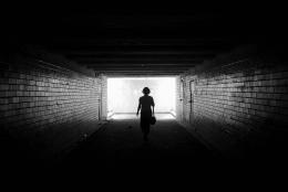 lonely in a tunnel