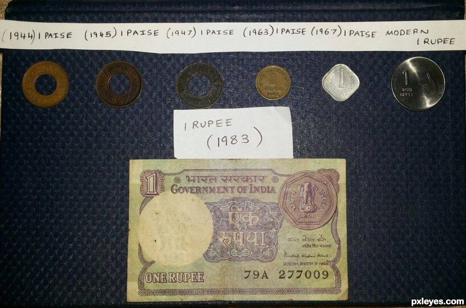 Old and new coins of India (transition)