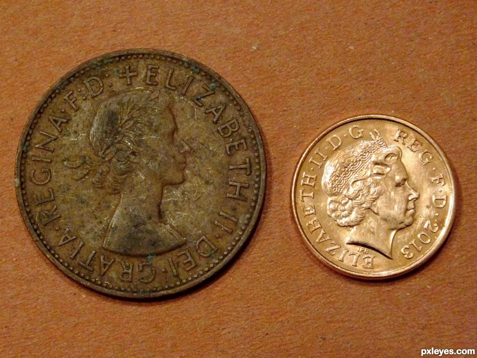 Old & New Pennies