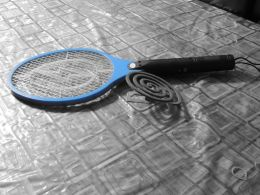 Mosquito coil to electric bat