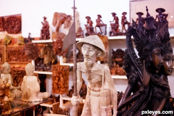 old man statue