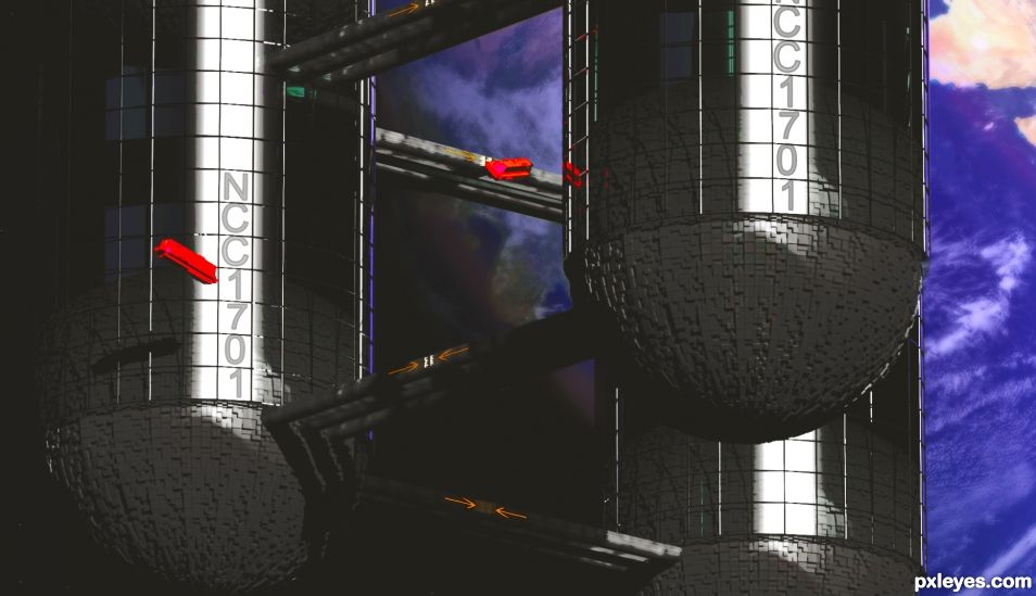 Earths 1st Interstellar Starship NCC 1701