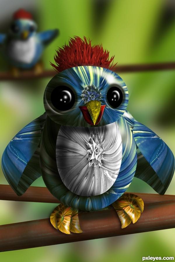 Blue Santa Bird